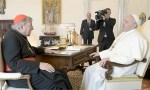 Pope Francis meets Cardinal George Pell