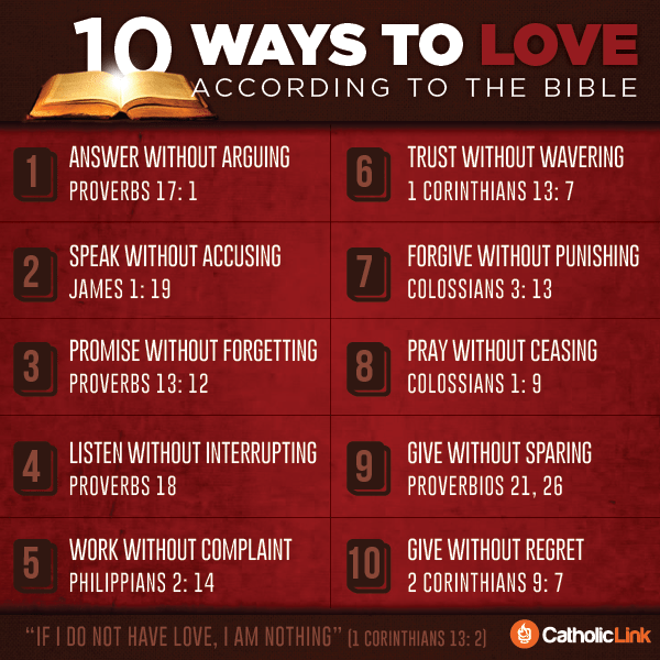 Infographic 10 Ways To Love According To The Bible