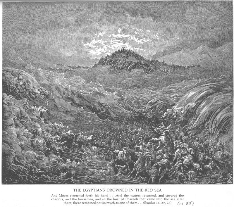 Gustave Doré, The Egyptians drowned in the Red Sea