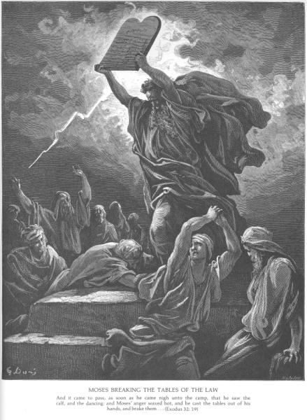 Gustave Doré, Moses breaking the Tables of the Law