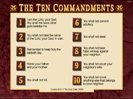 10 commandments bible # 61