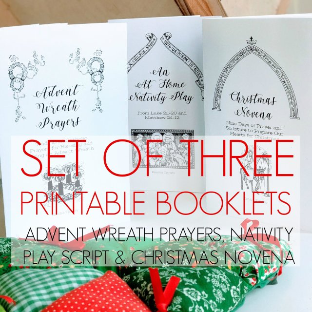 Set of Three Printable Booklets: Advent Wreath Prayers, Christmas