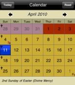 Catholic app Calendar liturgical calendar