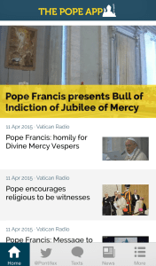 Pope App bull of indiction of Jubilee of Mercy