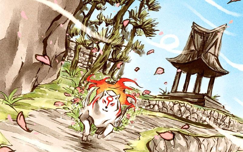Okami based on Japanese mythology and folklore