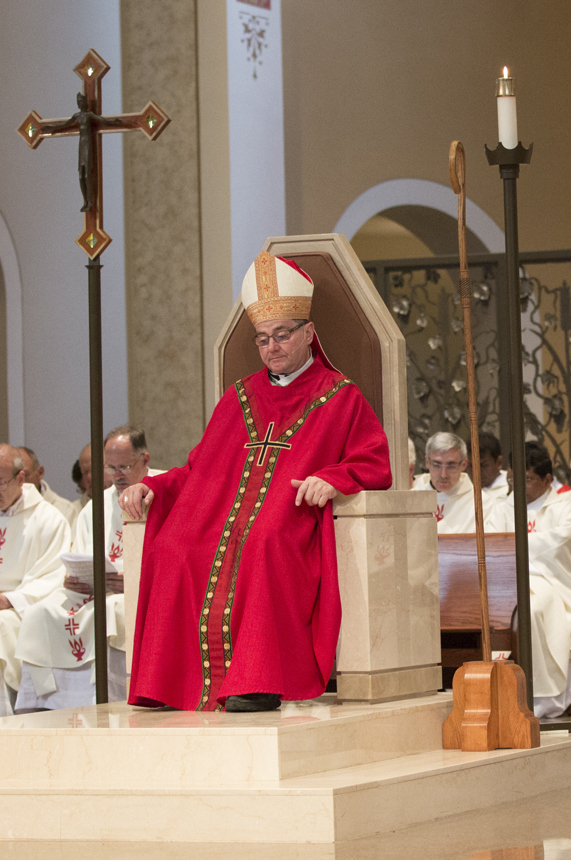 throne office chair sling chaise lounge symbols of the bishop | diocese superior superior, wi