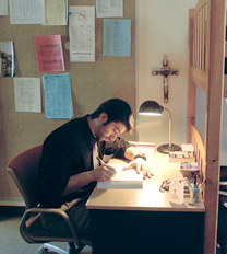Seminarian at Mt. Angel Seminary at St. Benedict in Oregon.