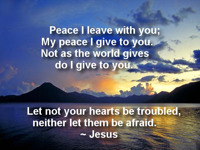 Peace I Leave With You Public Domain Image