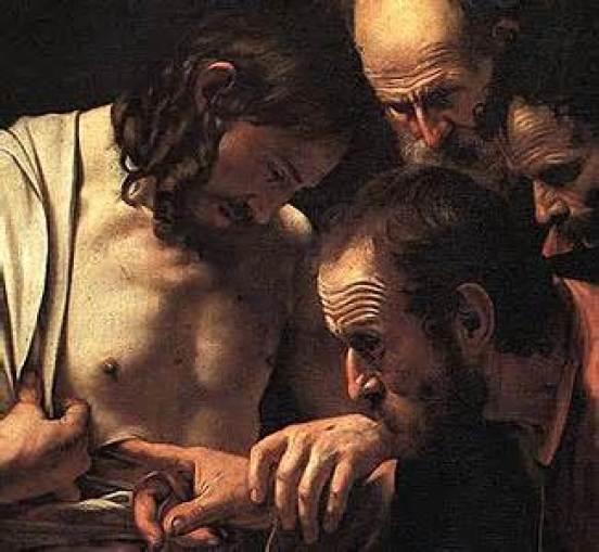 Doubting Thomas by Caravaggio Apostle and Martry Public Domain Image