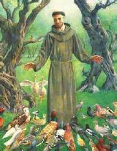 St. Francis with Birds Public Domain Image