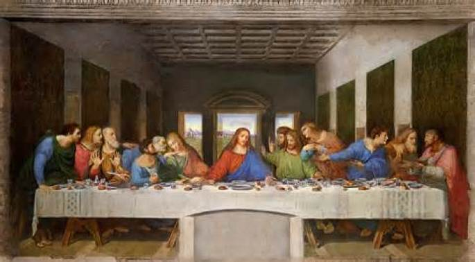 The Last Supper by DaVinci Public Domain Image
