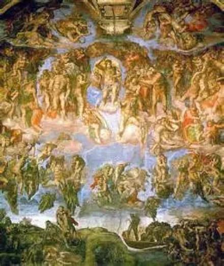 Last Judgement by Michelangelo Public Domain Image
