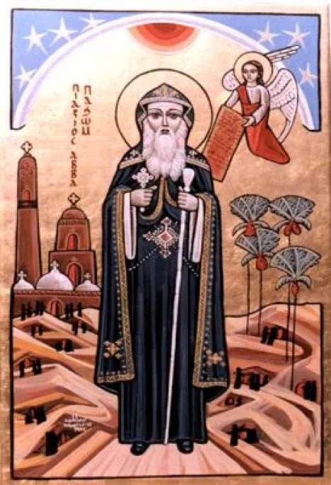 St. Pachomius Public Domain Image