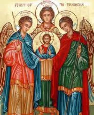 St. Michael, St. Gabriel and St. Raphael Public Domain Image