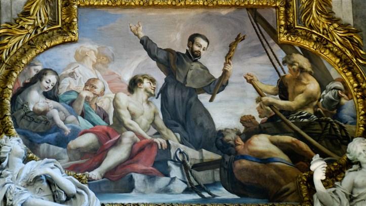 Preaching St. Francis Xavier By Carlone Gesu Public Domain Image