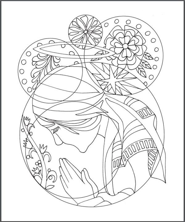 Rosary Coloring Pages : rosary, coloring, pages, Rosary, Coloring, (#50154)