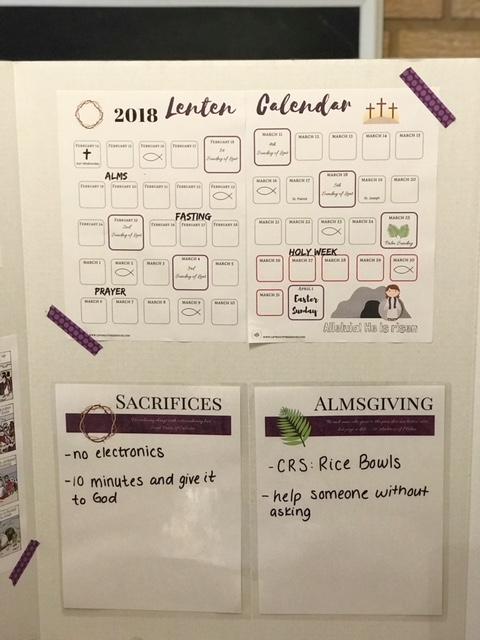 2018 lenten calendar