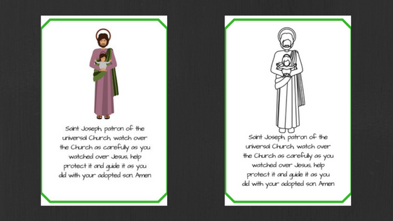 Saint Joseph prayer cards