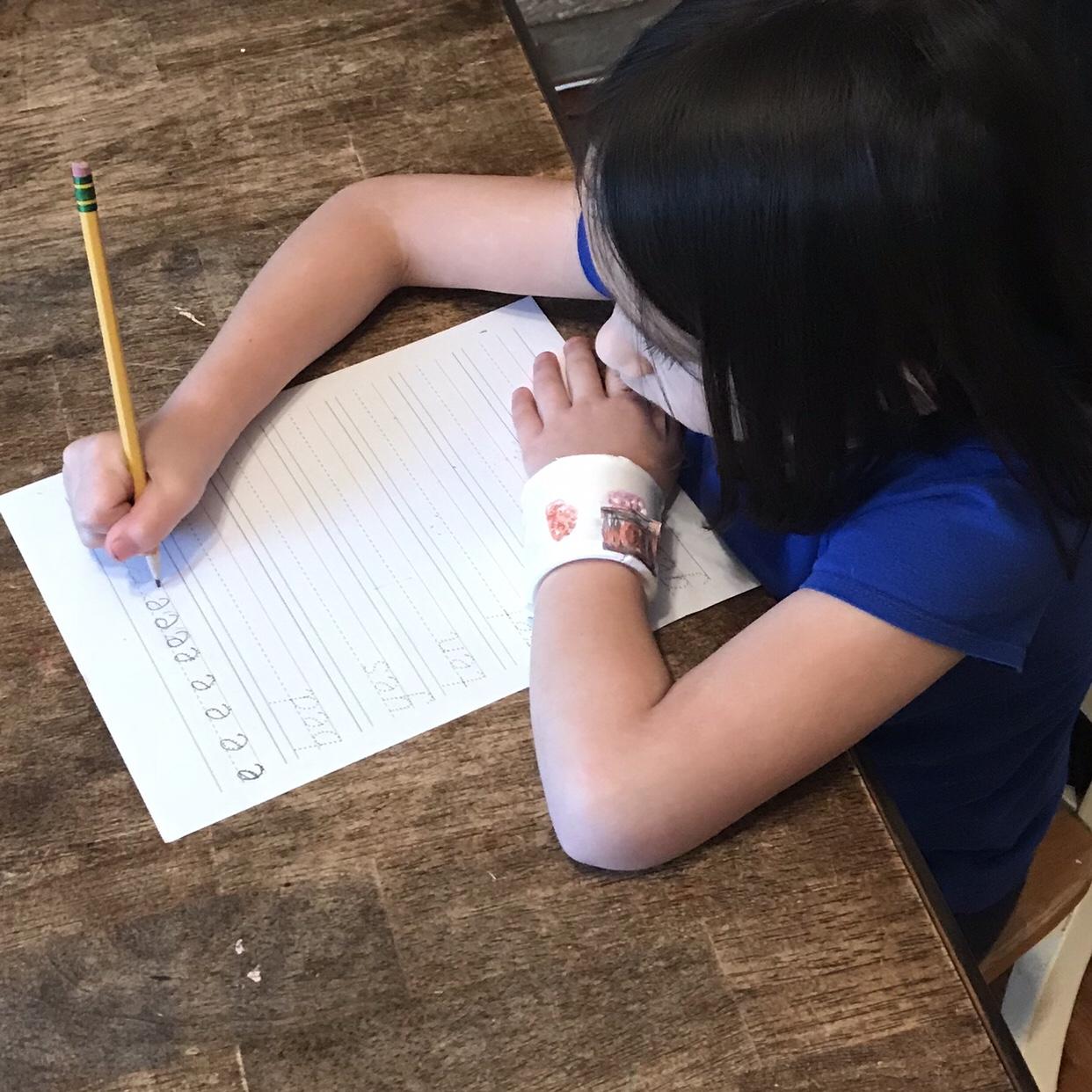 hight resolution of Teaching Handwriting   Catholic Homebody