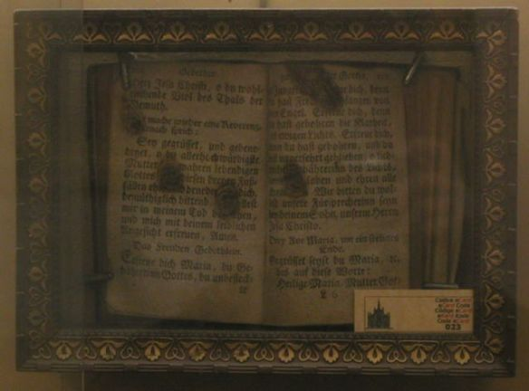Joseph Schitz' fingerprints on a German Prayerbook