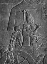 King Ashurbanipal of Assyria (ca. 668-627 B.C.).