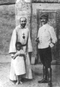 Little Brother Charles with Captain de Susbielle and Abd Jésus.
