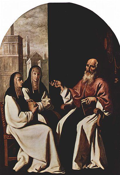 Saints Jerome, Paula, and Eustochium, by Francisco de Zurbarán