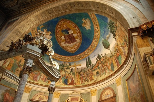 Interior of the Basilica of the Holy Cross of Jerusalem