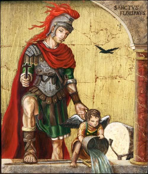 Saint Florian, Patron of Firefighters