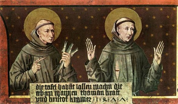 St Anthony of Padua and St Francis of Assisi by Friedrich Pacher (source)