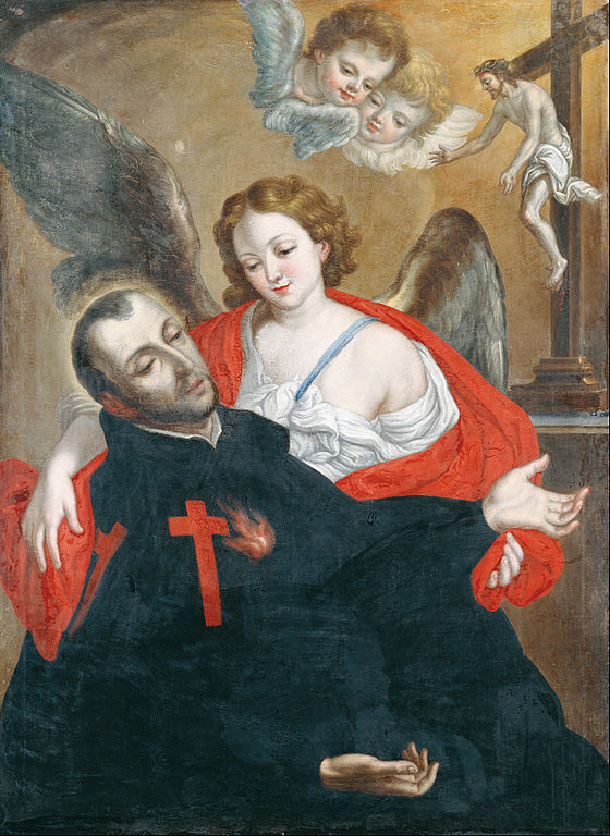 Ecstasy of Saint Camillus de Lellis (1762) , by Cristóbal Lozano (source)