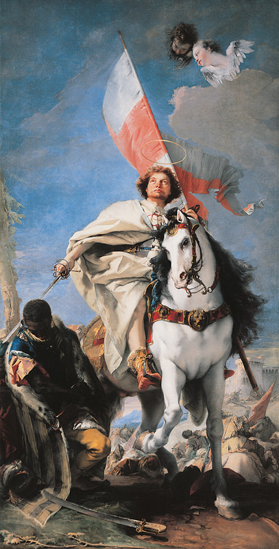 Saint James as the Moor-killer by Giovanni Battista Tiepolo (Museum of Fine Arts, Budapest, source)