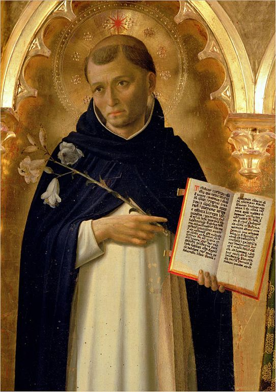 The Perugia Altarpiece, Side Panel Depicting St. Dominic, by Fra Angelico (circa 1395–1455) source