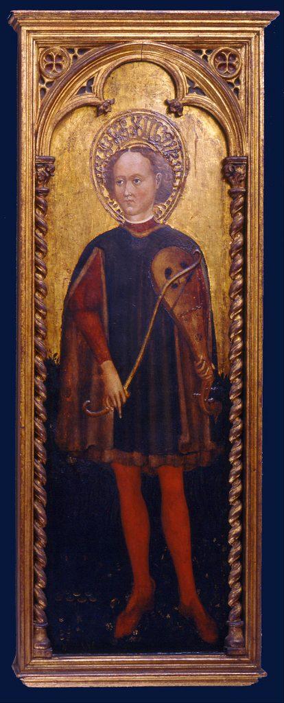 Saint Genesius (ca. 1451 - 1485), by Cristoforo Moretti (source)