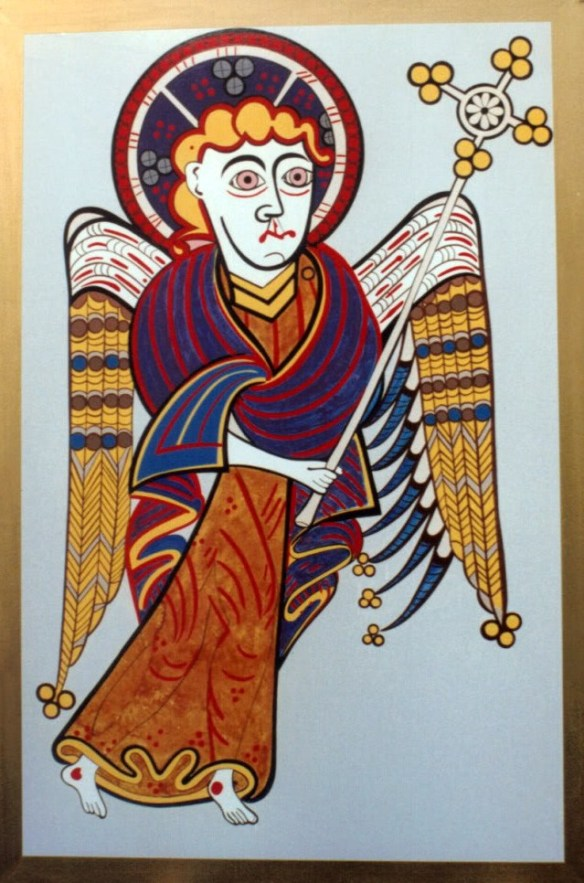 Saint Matthew, from the Book of Kells (source)