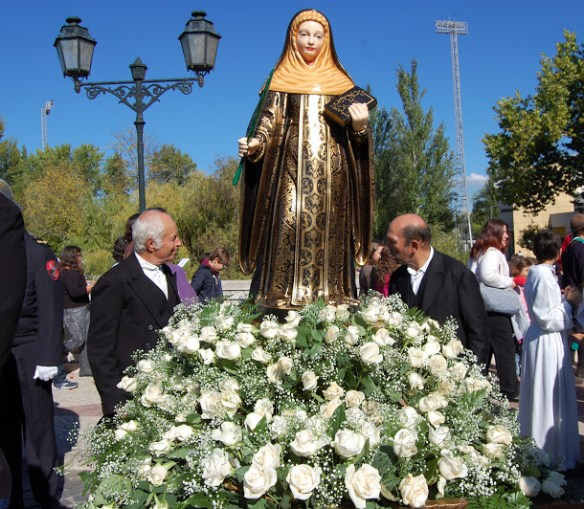 Statue of Saint Irene at a Portuguese festival procession (source)