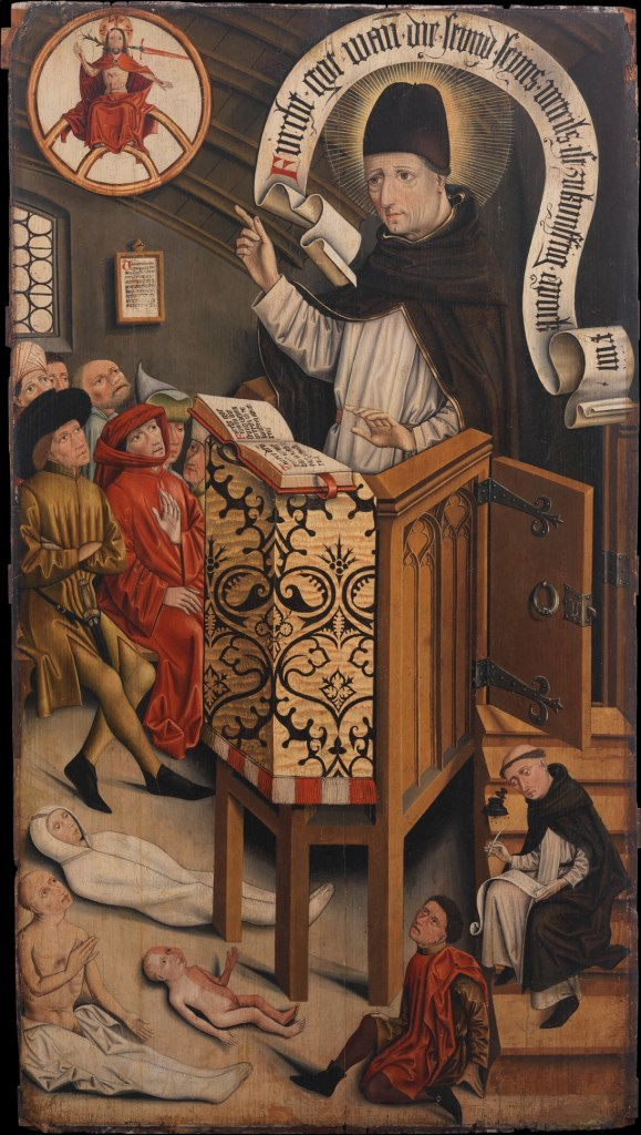 Sermon of Saint Albertus Magnus, by Friedrich Walther (German, ca. 1440–1494) source