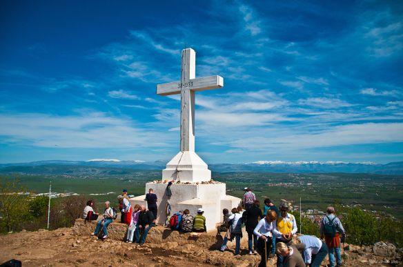 Cross at Križevac Hill in Medjugorje (Creative Commons Attribution 2.0 Generic)