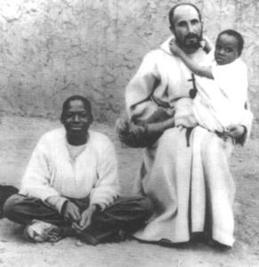 With Abd Jésus, a slave boy he had redeemed.