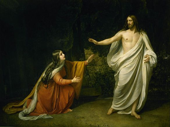 "Alexander Ivanov: ""Christ's Appearance to Mary Magdalene after the Resurrection"" (details/credits)"