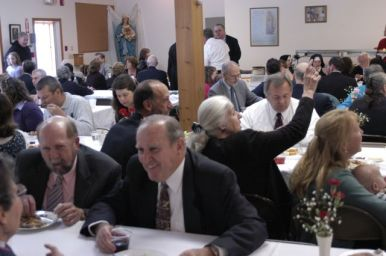 After the burial, our guests gathered in Saint Joseph's Hall for refreshments, remembrances, and renewing old friendships.