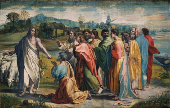 """""""Christ's Charge to Peter"""" by Raphael"""