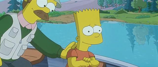 Simpson's Movie - Ned Flanders & Bart Simpsonfishing