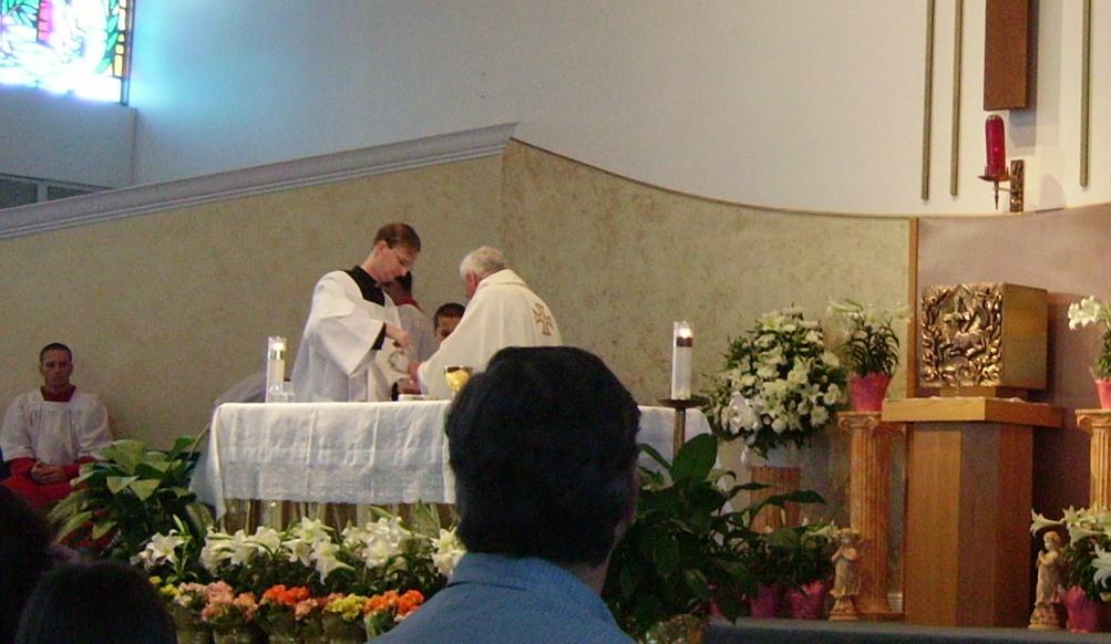 2008 Easter Mass @ St Bernadette Catholic Church, Hollywood, FL