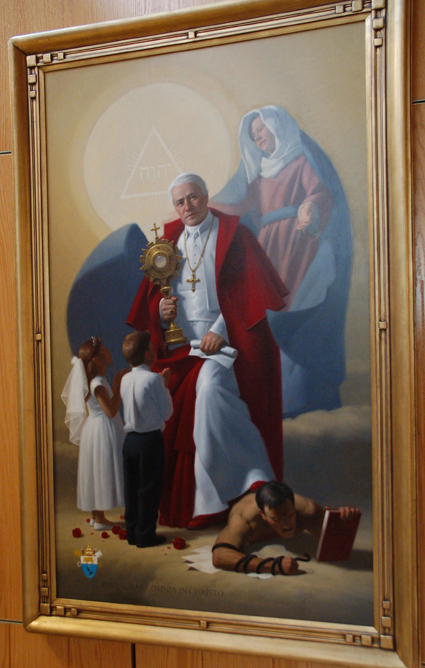 New paintings grace Cathedrals St Pius X Chapel  The