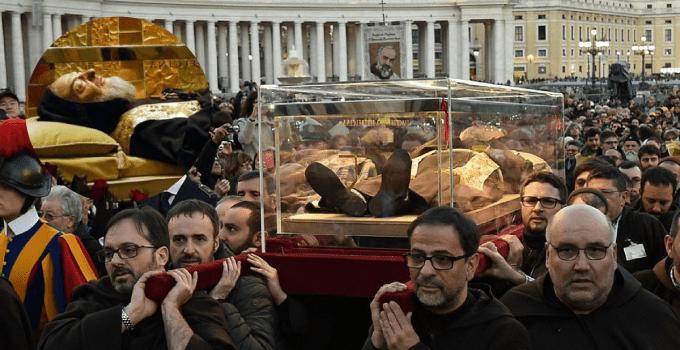 St. Padre Pio incorrupt body