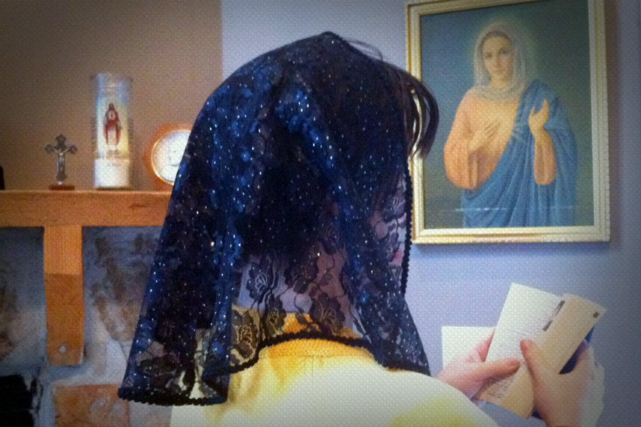 Why Fix Your Hair, If You're Wearing a Veil?
