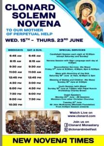 Clonard Novena themes and dates