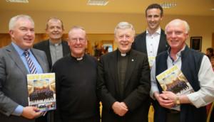 L-R: Peter Fallon, Fr Pat Farragher, Fr Padraic O Connor, Archbishop Michael Neary. Joe Bergin, Fr Pat Donnellan (Native of Moyough)