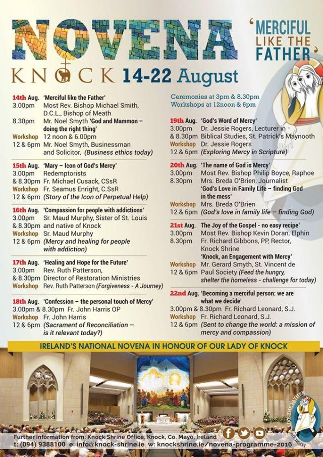 Merciful like the Father' – Knock Novena begins on Sunday 14
